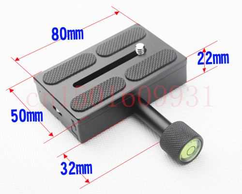 Brand New Camera 80 X 50mm QR Quick Release Plate And Clamp For Ball Head Monopod Tripod 1/4-3/8 screw