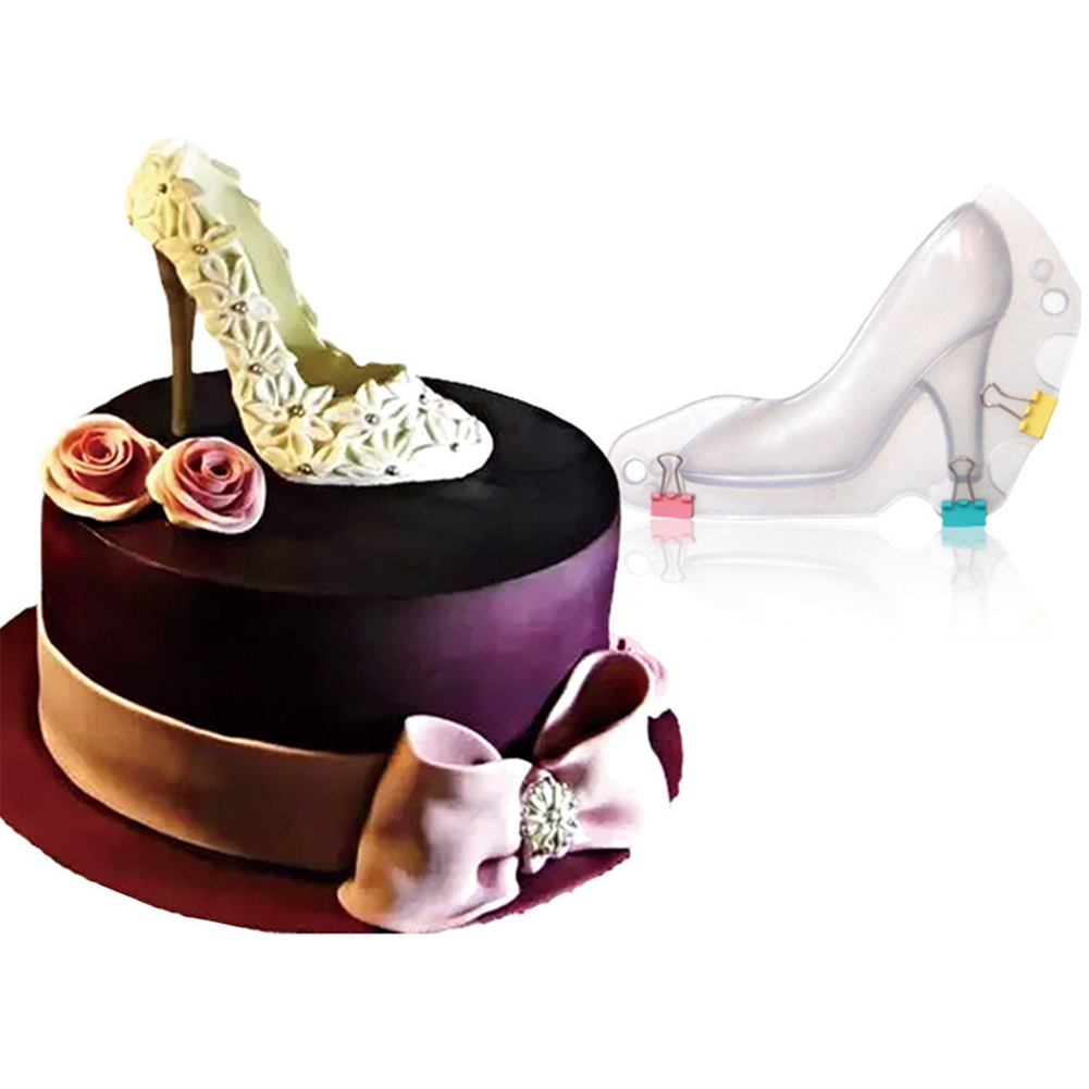 Wondrous 3D Chocolate Mold High Heel Shoes Fondant Cake Paste Molds Cakes Birthday Cards Printable Opercafe Filternl