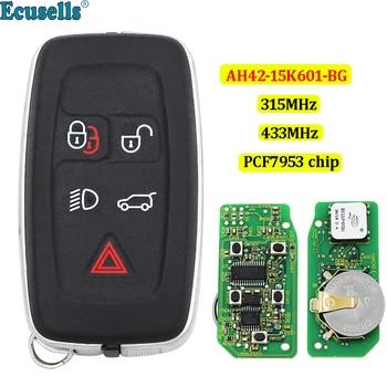 Cartão inteligente keyless entry Remoto Chave Fob 5 Botão 315 Mhz 434 mhz para Land Rover Range Rover Evoque Esporte AH42-15K601-BG