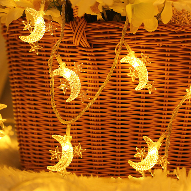 3M/1M LED Star And Moon String Lights Fairy Lights Christmas Garland Wedding Decoration Lights Battery Operate Twinkle Light