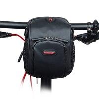 RHINOWALK Bicycle Handlebar Bag Bicycle Front Rainproof Tube Pocket Shoulder Pack Riding Cycling Supplies