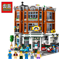 DG006 New ideas series the Corner Garage Model Building Blocks Compatible legoing 10264 Classic Architecture Toys Gifts