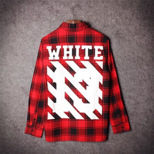 2016 Tyga cool oversized T shirts Tee men hip hop red Tartan Plaid top pyrex white 13 mma shirt kanye swag Apply to men/ women
