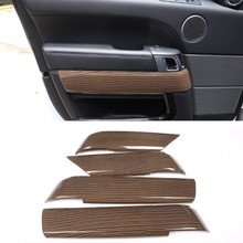 Sands Wood Grain Style ABS Plastic Inner Door Decoration Cover Trim For Landrover Range Rover Sport RR Sport 2014-2017 Car Parts цены