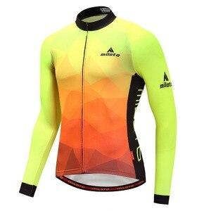 Image 5 - Мужская трикотажная рубашка MILOTO, зимняя велосипедная рубашка с длинным рукавом и длинным рукавом для езды на велосипеде, Майо, зима 2019