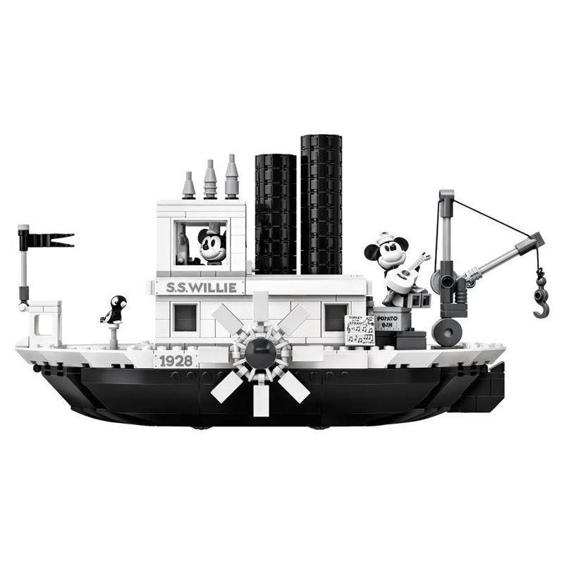 Image 3 - 2019 New Ideas Steamboat Willie Movie Legoed 21317 Building Blocks Bricks Toys for Children Gifts Model Kids Christmas Gift-in Model Building Kits from Toys & Hobbies