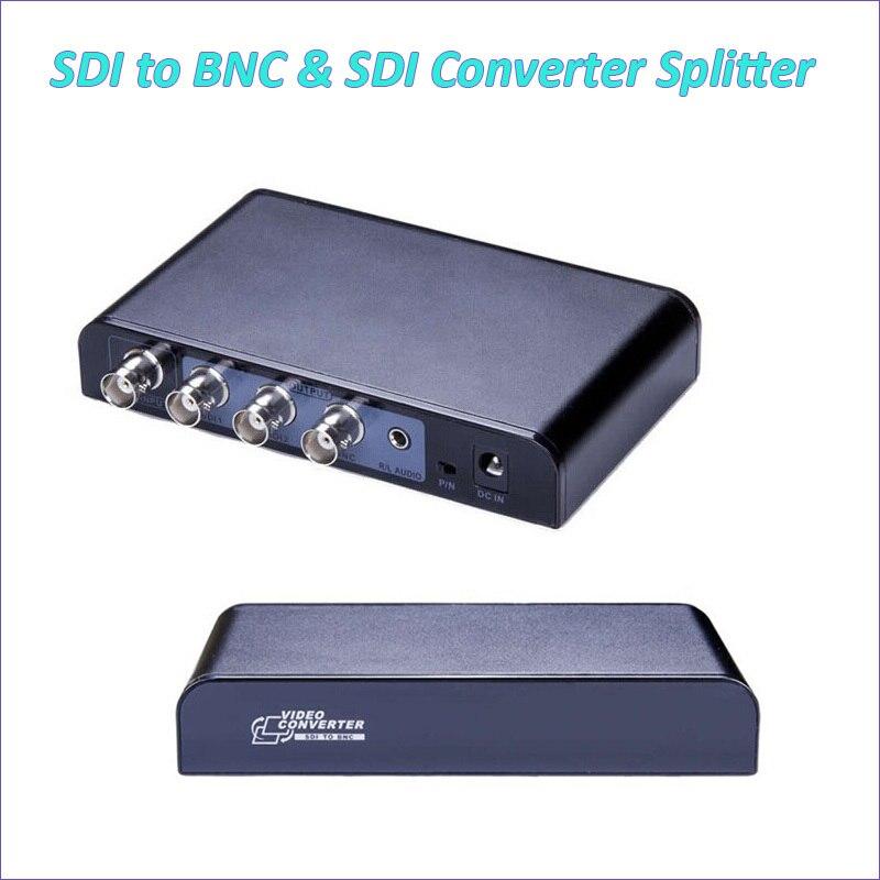 New SDI to BNC 1080P Video Splitter Converter Repeater with Audio PAL/NTSC Support SD SDI HD SDI 3G SDI Down/UP Scaler