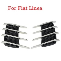 A Pair Car Shark Gills Exterior Decor Side Air Intake Flow Grille Vent Outlet Decorative Styling