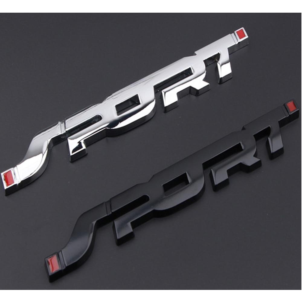 1x Fashion Sport Emblem Badge Car Trunk Fender Sticker Auto Car Decal Decor