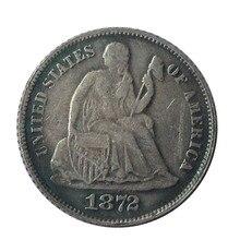 Дата 1871-S 1872 1872-CC 1872-S 1873 1873-CC 1875 1875-CC США десятицентовая монета с изображением сидящей свободы копия монет