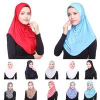 12PCS Muslim Women Soft Hijab Caps Amira Head Cover Bone Bonet Headwear Underscarf Islamic Turban Hats Middle East