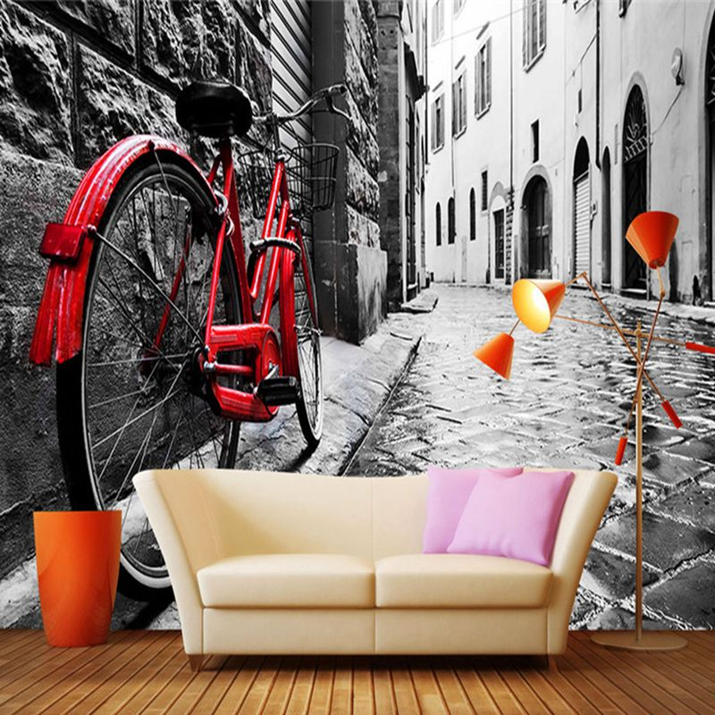 Wall Mural In Wallpapers 3D Photo Wallpapers Retro