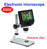 600X digital mikroskop elektronische video mikroskop 4,3 inch HD LCD löten mikroskop telefon reparatur Lupe + metall stehen