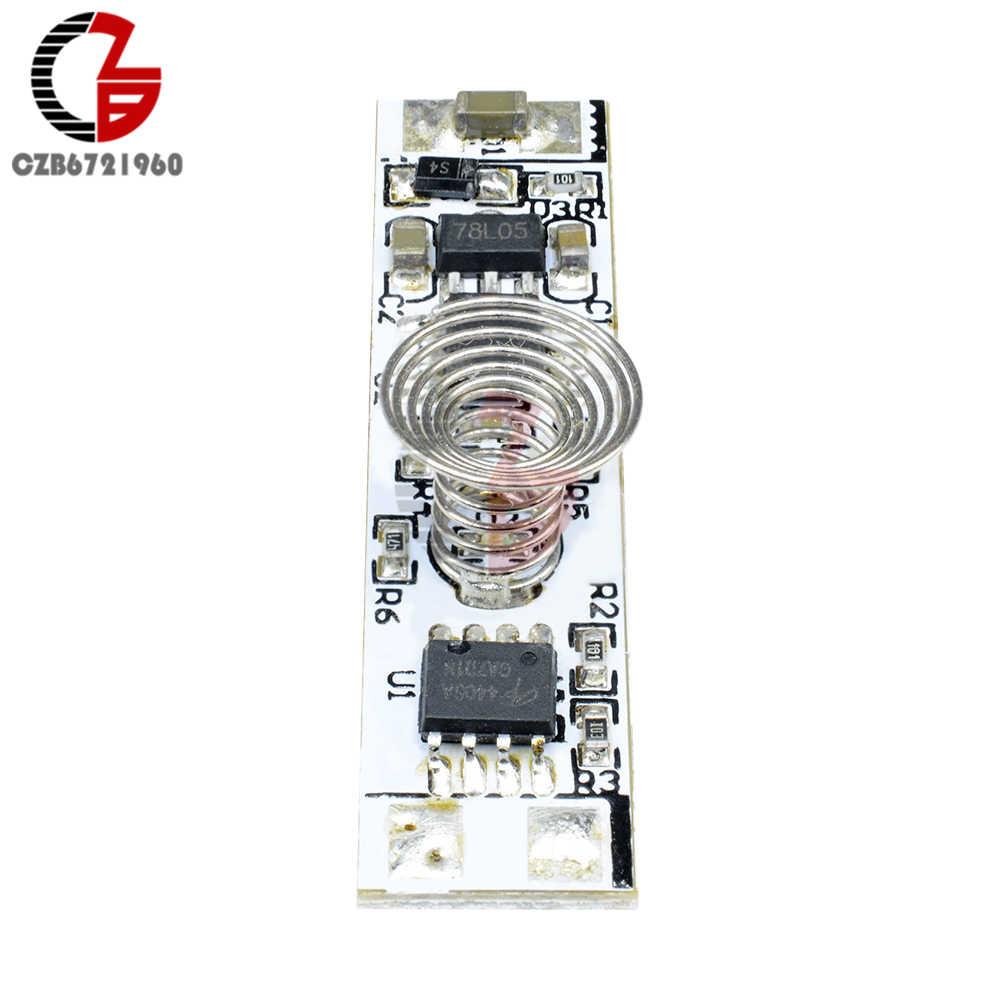 Dc 12 v 静電容量式タッチセンサースイッチモジュールコイルばねスイッチ led 調光スイッチ 9-24 v 30 ワット 3A 用 led ライトストリップ