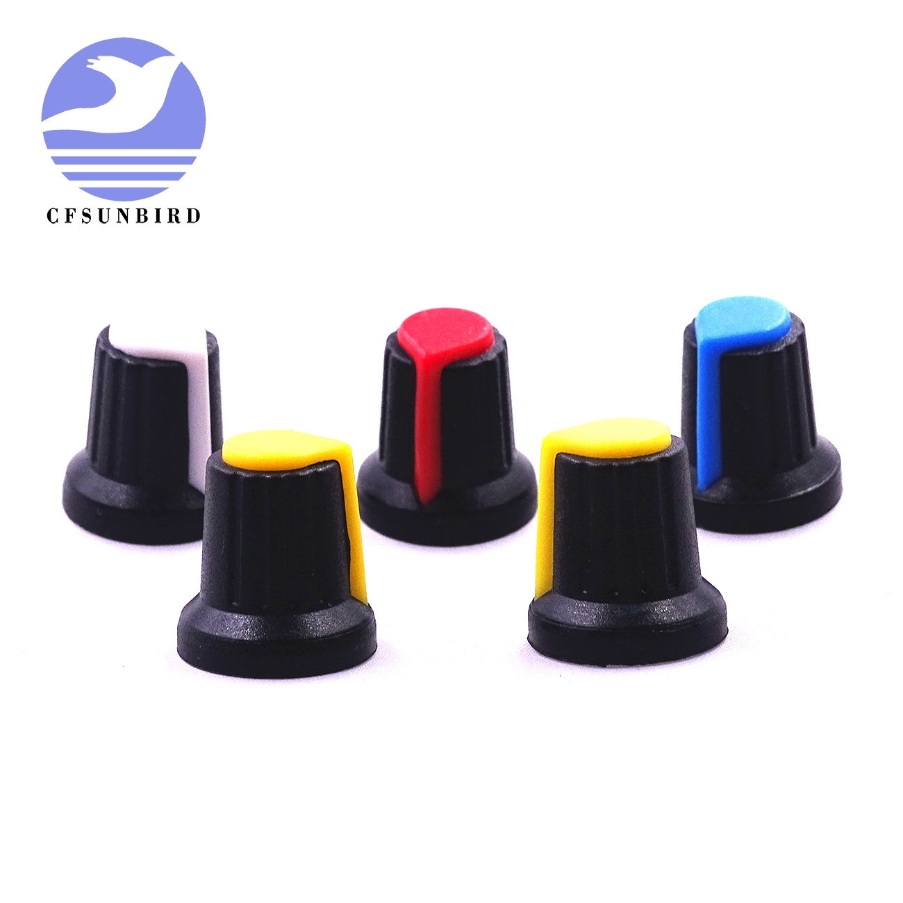 10Pcs High Quality Plastic Potentiometers Knobs Knob For Single Double Potentiometers