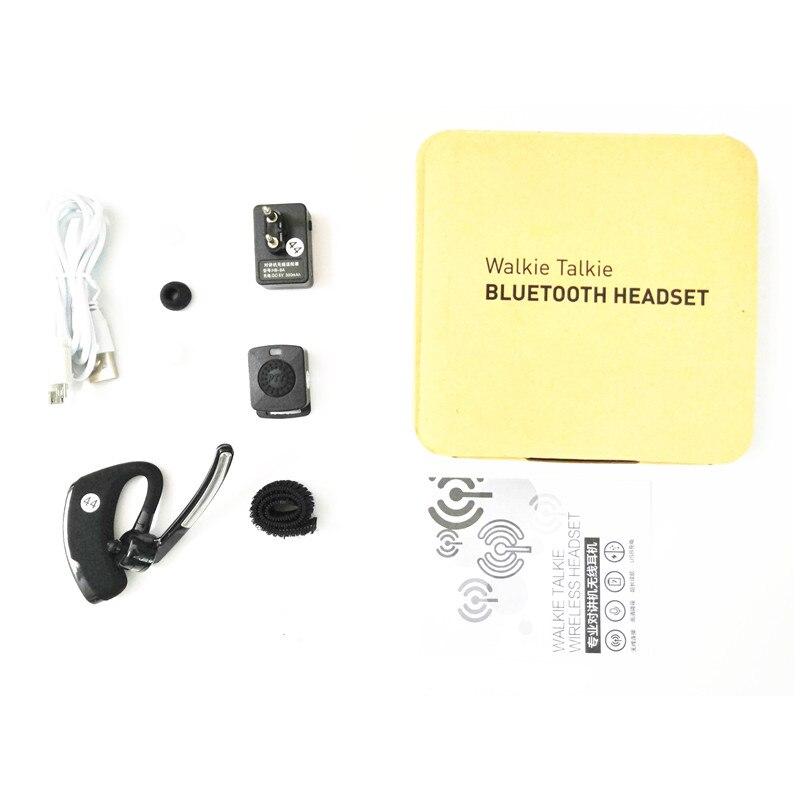 Image 5 - מכשיר קשר Bluetooth PTT אפרכסת Handfree אלחוטי אוזניות אוזניות מיקרופון עבור BaoFeng UV 82 UV 5R BF 888S TYT שתי דרך רדיוווקי טוקי   -
