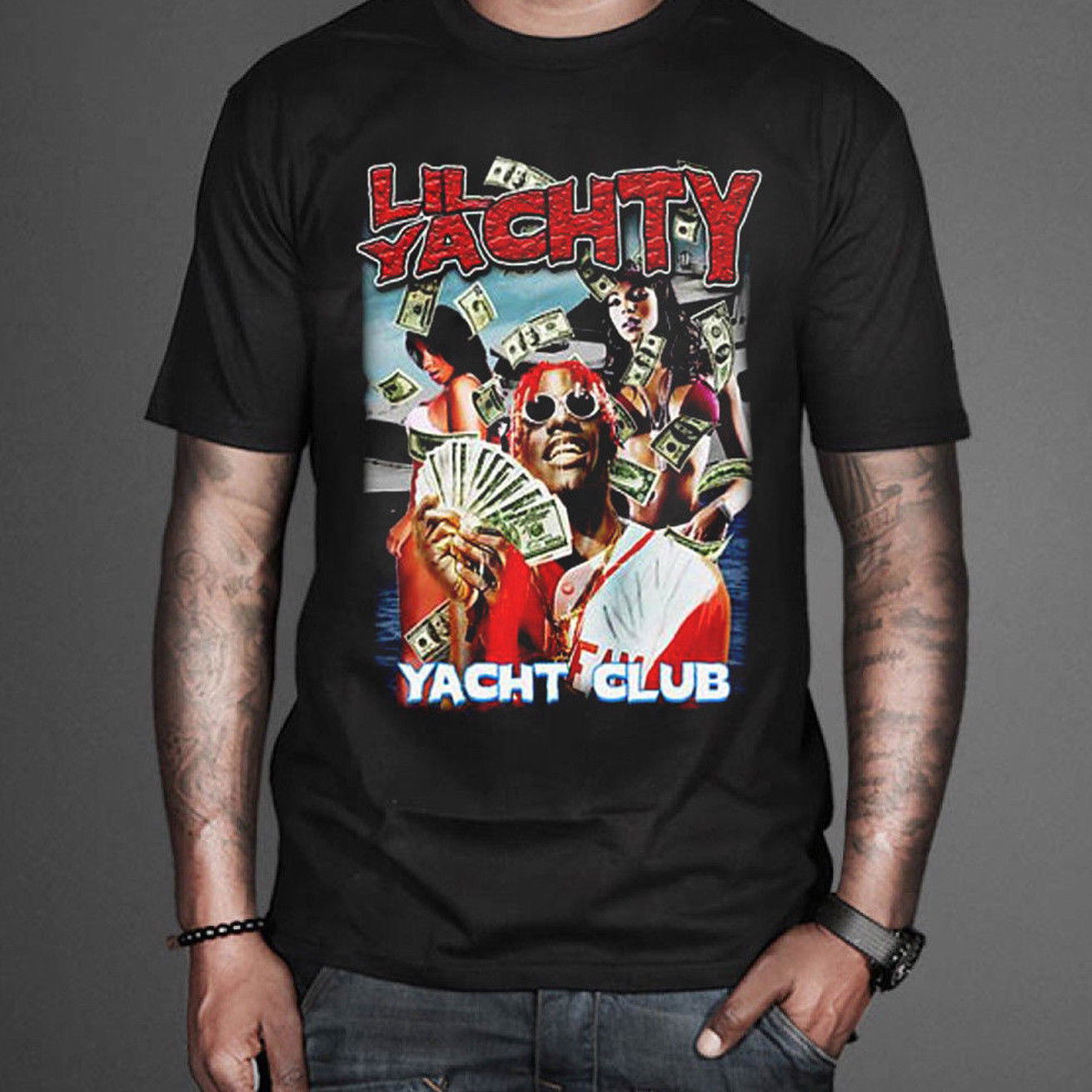 Lil Yachty Yacht Club Inspired Hip hop R & B Tee Tour 2018 Summer MenS Brand Clothing O-Neck