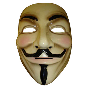 Image 4 - 2 Colors The V for Vendetta Party Cosplay Masque Mask Anonymous Guy Fawkes Fancy Dress Adult Costume Macka Mascaras Halloween