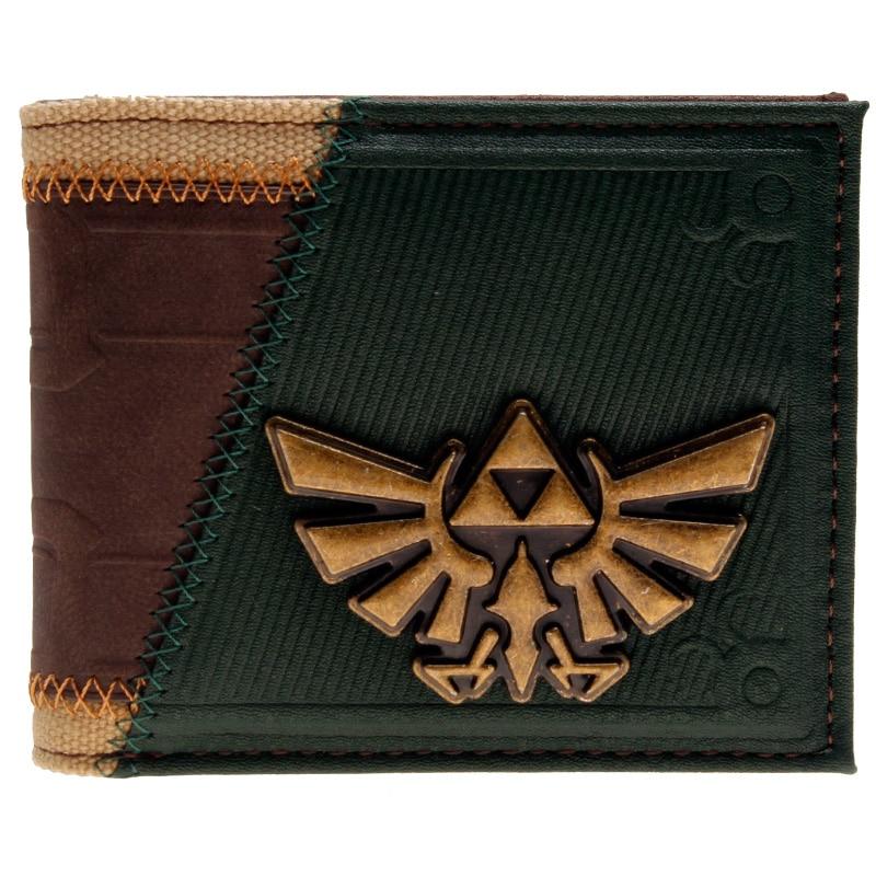 Legend of Zelda Link's Costume Wallet Men Wallet Small Vintage Wallet Brand High Quality Designer Short Purse DFT-2130 zelda wallet bifold link faux leather dft 1857