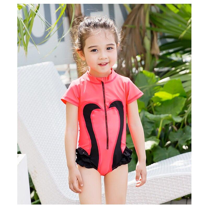 dcca7401421ff 2018 Summer Toddler Baby Girls Swan Swimwear Swimming Wear Bikini for Kids  One Piece Swimsuit Costumes Children's Bathing Suits-in Children's One-Piece  ...