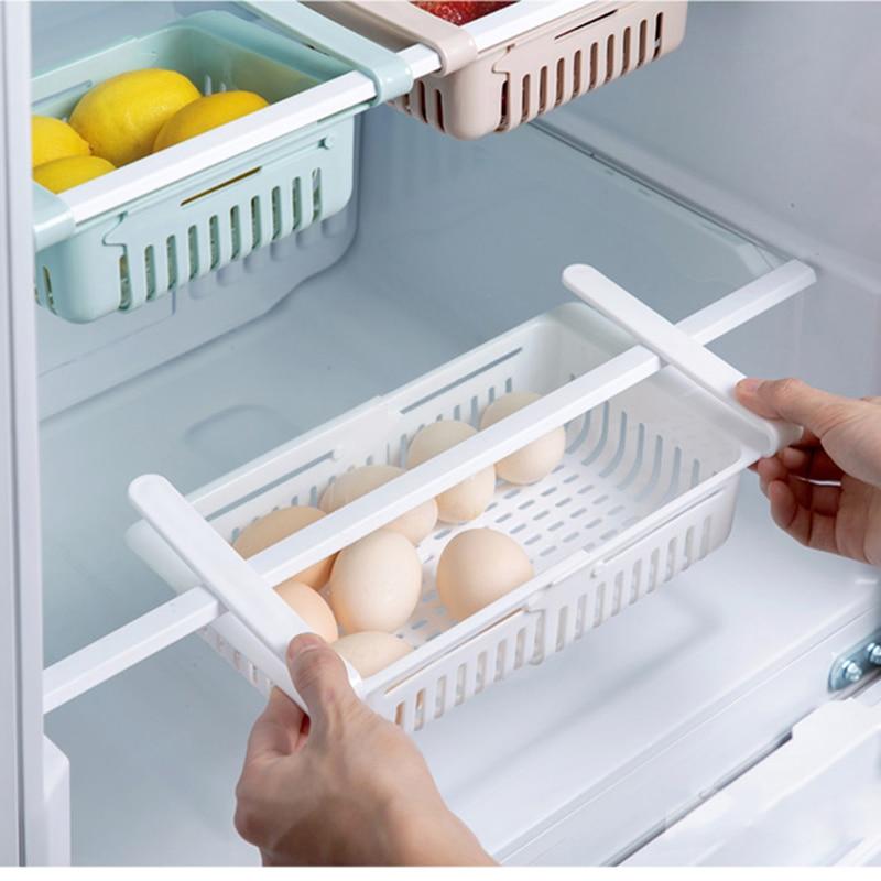 kitchen storage rack organizer kitchen organizer rack kitchen accessories organizer shelf storage rack fridge storage shelf box-in Racks & Holders from Home & Garden