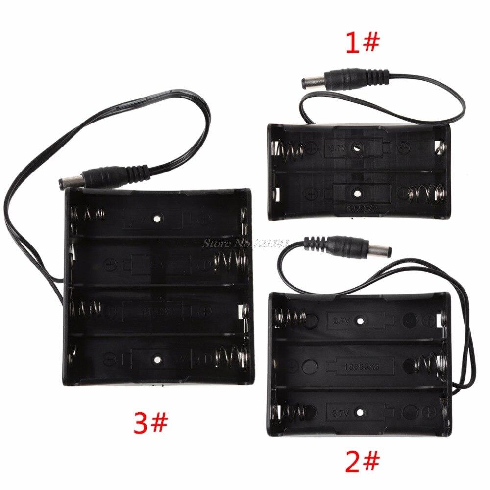 Bricolage 2x3x4x18650 batterie porte-boîte de rangement avec DC 5.5x2.1mm prise de courant électronique Stocks