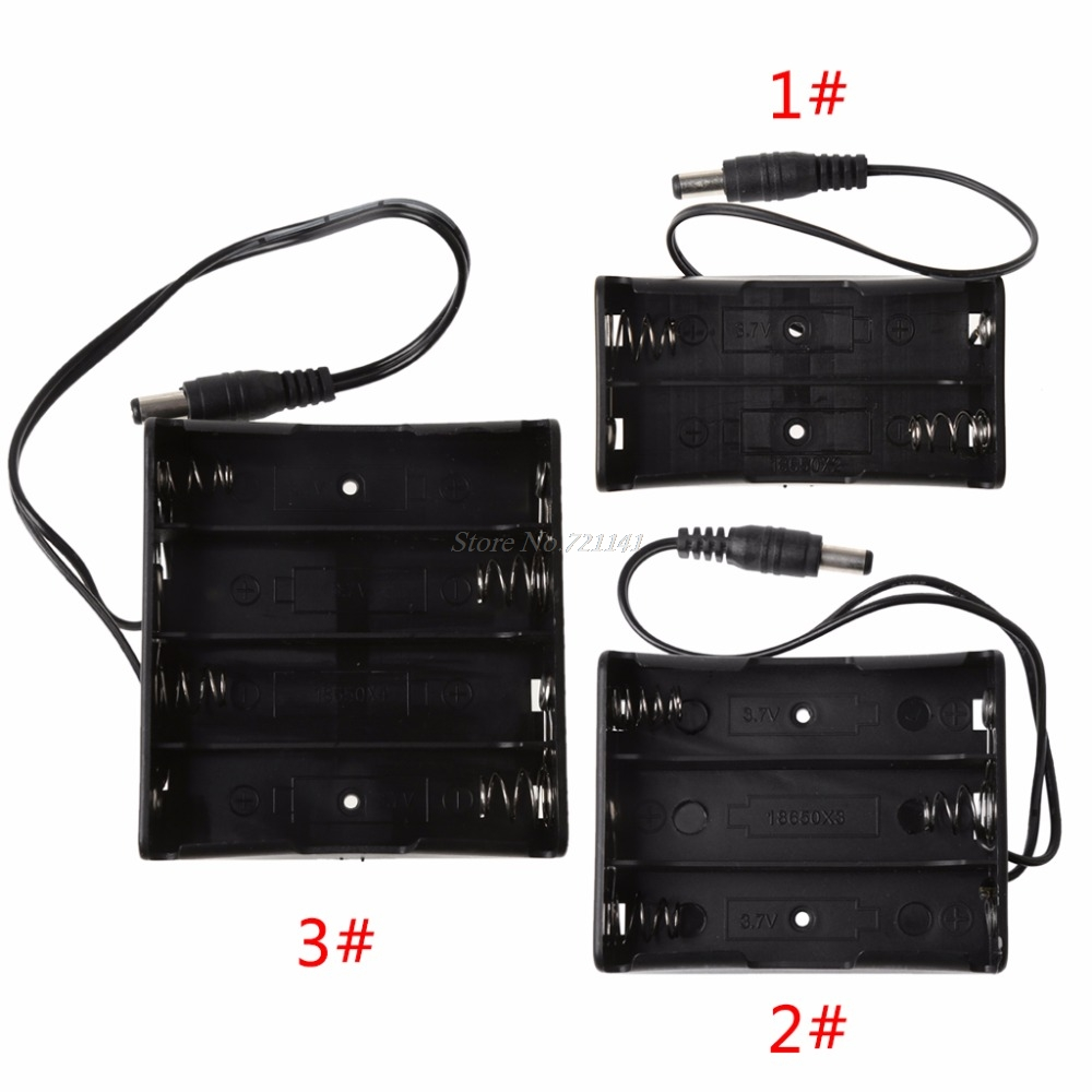 DIY 2x 3x 4x 18650 Battery Holder Storage Box Case With DC 5.5x2.1mm Power Plug Electronics Stocks Dropship