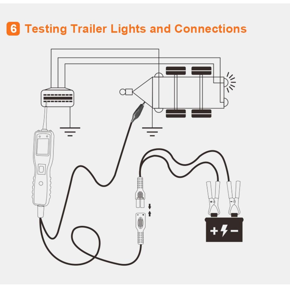 12  24v km10 digital powerscan circuit diagnostic tester avometer diagnostic tool