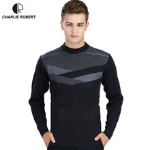 Pullover Sweater for Men 2016 Winter Brand Mens Causal Slim Fit Sweater MK158 New Man Round Neck Long-sleeved men's Sweater