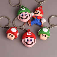 LLavero de juguete modelo coleccionable figura de acción de PVC de Super Mario Bros Mario Yoshi Luigi