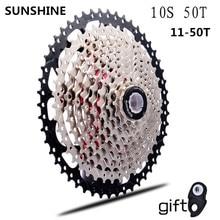 11 50 T cassette 10 velocità mtb della bicicletta a ruota libera pignone cdg 50 T cog velocidade mountain bike ruota libera ultralight 583g vg 10