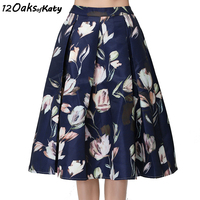 12 OAKS OF KATY S To XXL High Waist A Line Puff Skirt Women Fashion Vintage