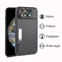 Dual Camera Lens For IPhone X 160 Degree Fisheye Lens Wide Angle Lens 20X Macro Telescope