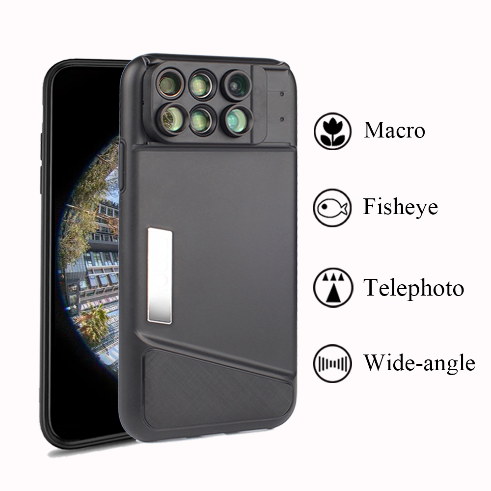 the latest 0cf41 beceb US $29.99 25% OFF|Dual Camera Lens For iPhone X 160 Degree Fisheye Lens  Wide Angle Lens 20X Macro Telescope Lens with Case For Apple iPhone X 10-in  ...