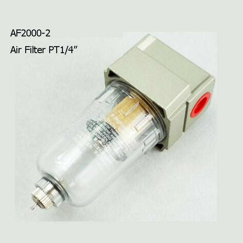 Pneumatic parts, Air source treatment Air Filter AF2000-02 PT1/4 Air Source Treatment Unit epman universal 3 aluminium air filter turbo intake intercooler piping cold pipe ep af1022 af