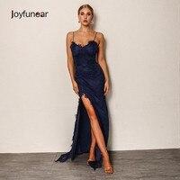 Joyfunear 2018 Donne di Modo di autunno Vestito Aderente Vintage Sexy Club  Maxi Abito di Pizzo 3e1116179cb
