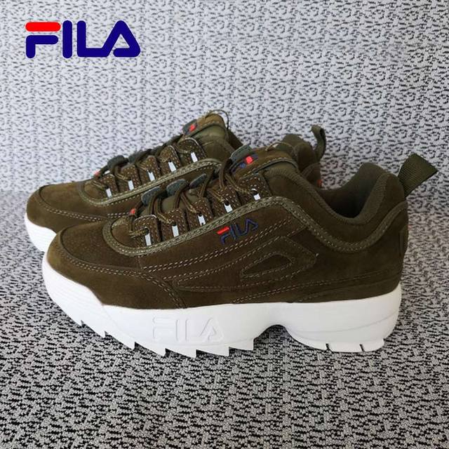 f134660ea58f 2019 FILA Disruptor II 2 Retro Sneakers Men Women Running Shoes White Black  brown summer Height Increasing Outdoor Sneaker