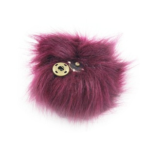 Image 5 - Furling 12pcs DIY Fluffy Faux Fur 11cm Pom Pom Ball with Press Button for Baby Girl Pom Beanie Hat Decoration Accessories
