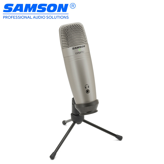 Samson C01U Pro USB Studio Condenser Microphone with Real-time monitoring large diaphragm condenser microphone for broadcasting