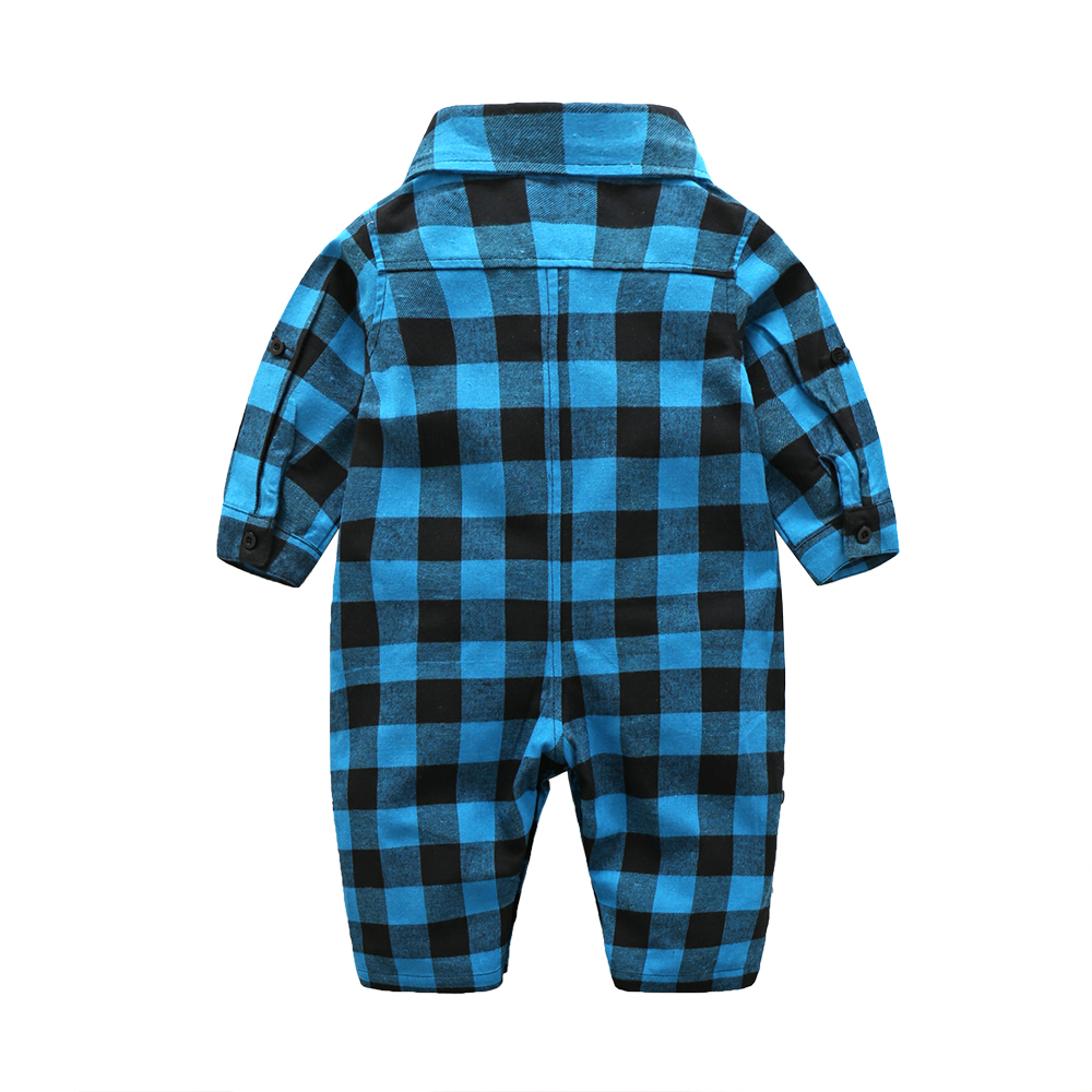 Plaid-bebes-clothes-baby-clothes-long-sleeve-lapel-baby-romper-newborn-cotton-baby-costume-baby-boys-newborn-clothes-2