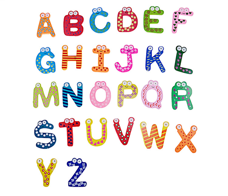 Bohs Wooden Educational Aids 26 English Alphabets Letter