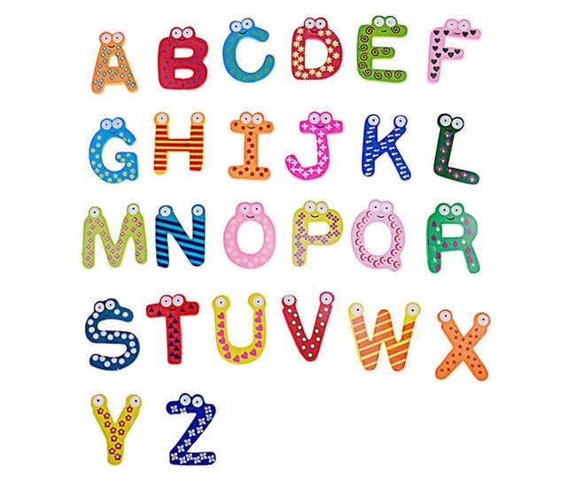 Bohs Wooden Educational Aids 26 English Alphabets Letter Refrigerator Fridge Stickers Toys Toys Toys Toys Toys Toystoy Sticker Aliexpress