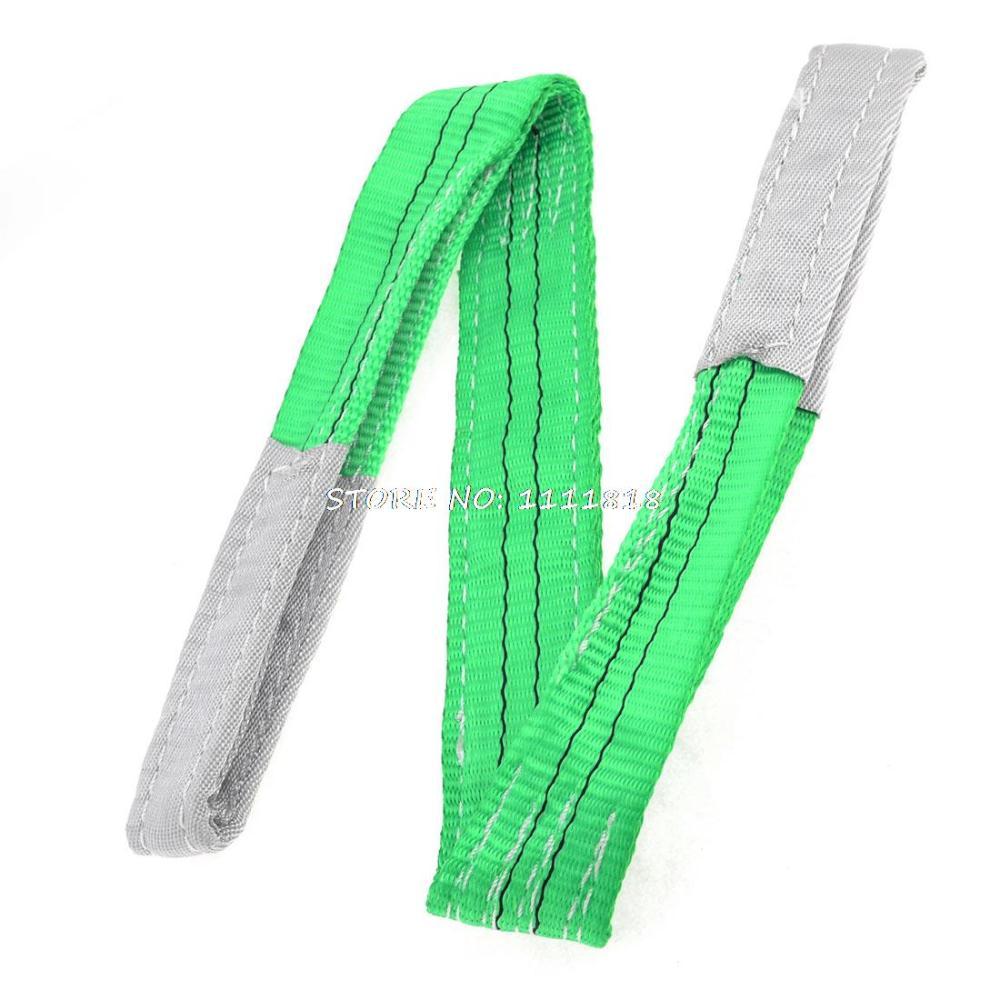 Green 1M Length 50mm Width Eye to Eye Nylon Web Lifting  Strap  green 50mm width 2m 2t flat eye to eye web lifting strap tow strap