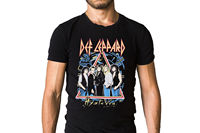 Def Leppard Hysteria Tour T Shirt Sleeve T Shirt Homme Cool Slim Fit Letter Printed Top