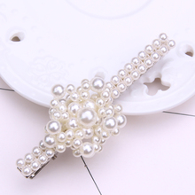 pearl flower hair clips for women wedding accessories jewelry barettes hairpin tiara noiva