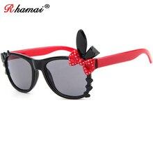 RHAMAI новые детские солнцезащитные очки Детские дизайнерские темные очки для девочек и мальчиков, детские очки