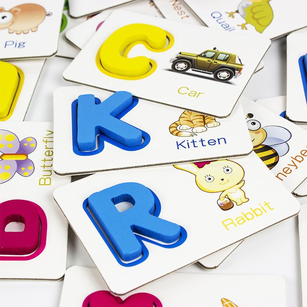 Cartão Cartão de Alfabetização Inglês Carta Aprendizagem