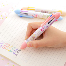 1 Pcs Novelty Multicolor Ballpoint Pen Multifunction 7 In1 Colorful Stationery Creative School Supplies