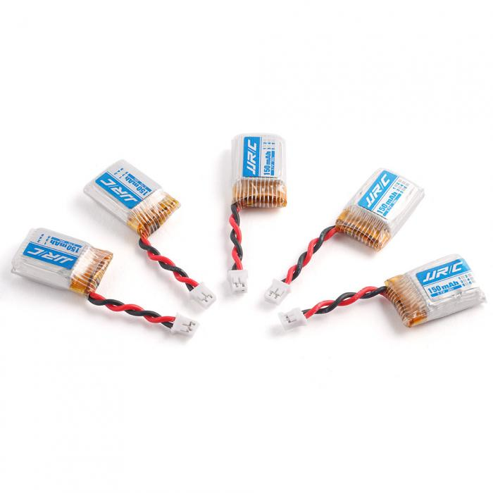 5 Pcs/Set 3.7V 30C 150mAh Lipo Battery Kit With Balance Charger Fits For JJRC H36 RC Quadcopter E010 Racing Drone YH-17