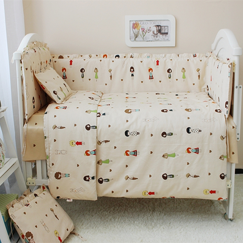 Cute Baby Bedding Set For Crib Newborn Baby Bed Linen For Boys Girls Various Sizes Cot Set Bumper Quilt Pillow Mattress Sheet boys girls favorite cotton bedding set baby bedding crib sets fast shipping and safety delivery beautiful cute baby bedding set